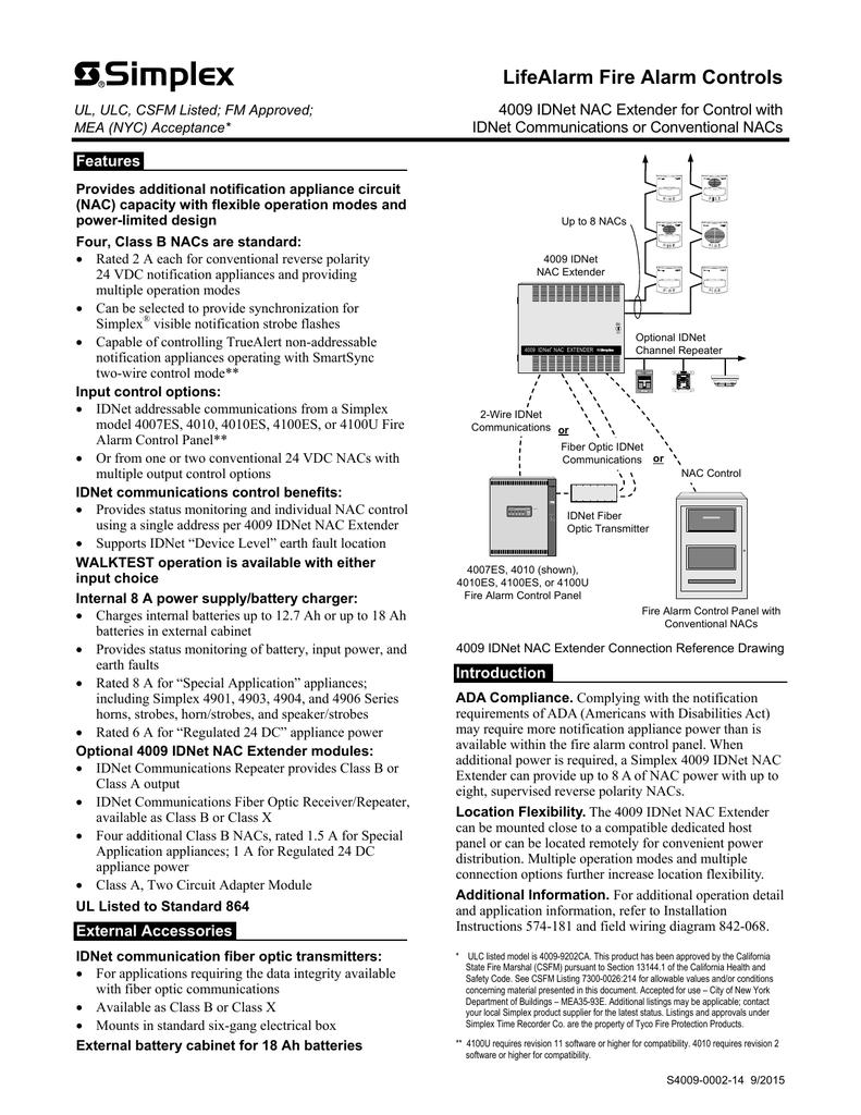 Simplex 4005 Field Wiring Diagram