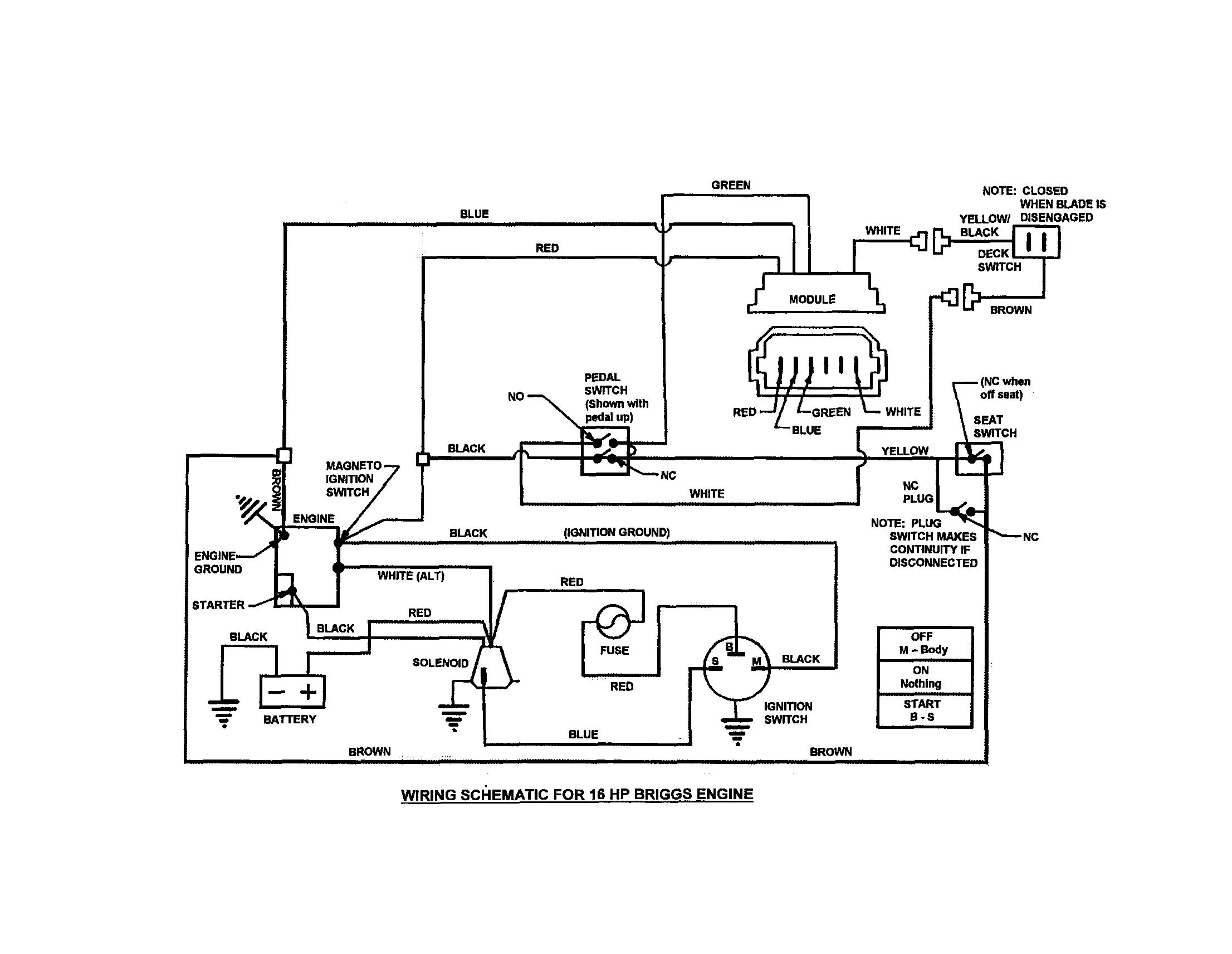 Snapper 2690890 Display Wiring Diagram