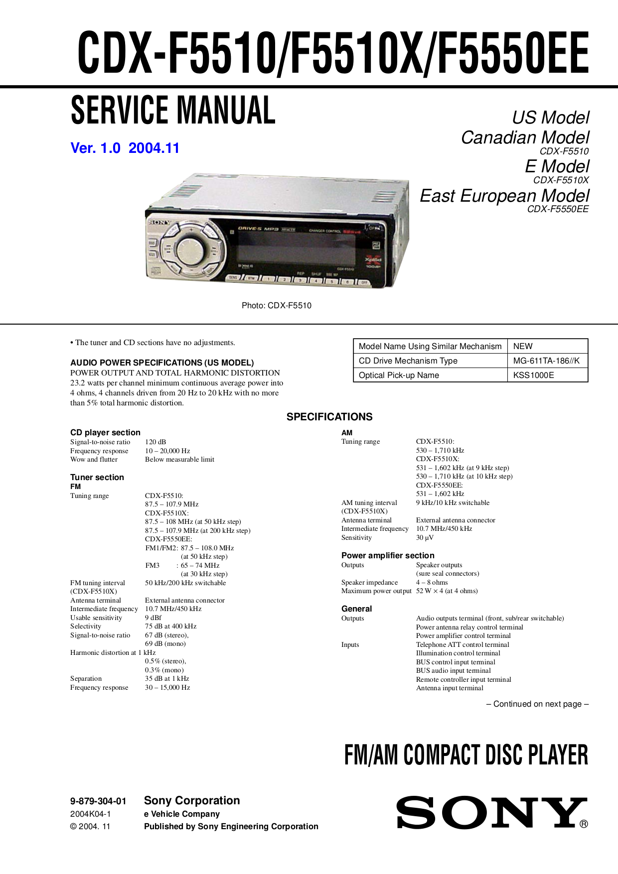 Sony Cdx F5710 Radio Wiring Diagram Wiring Diagrams Source