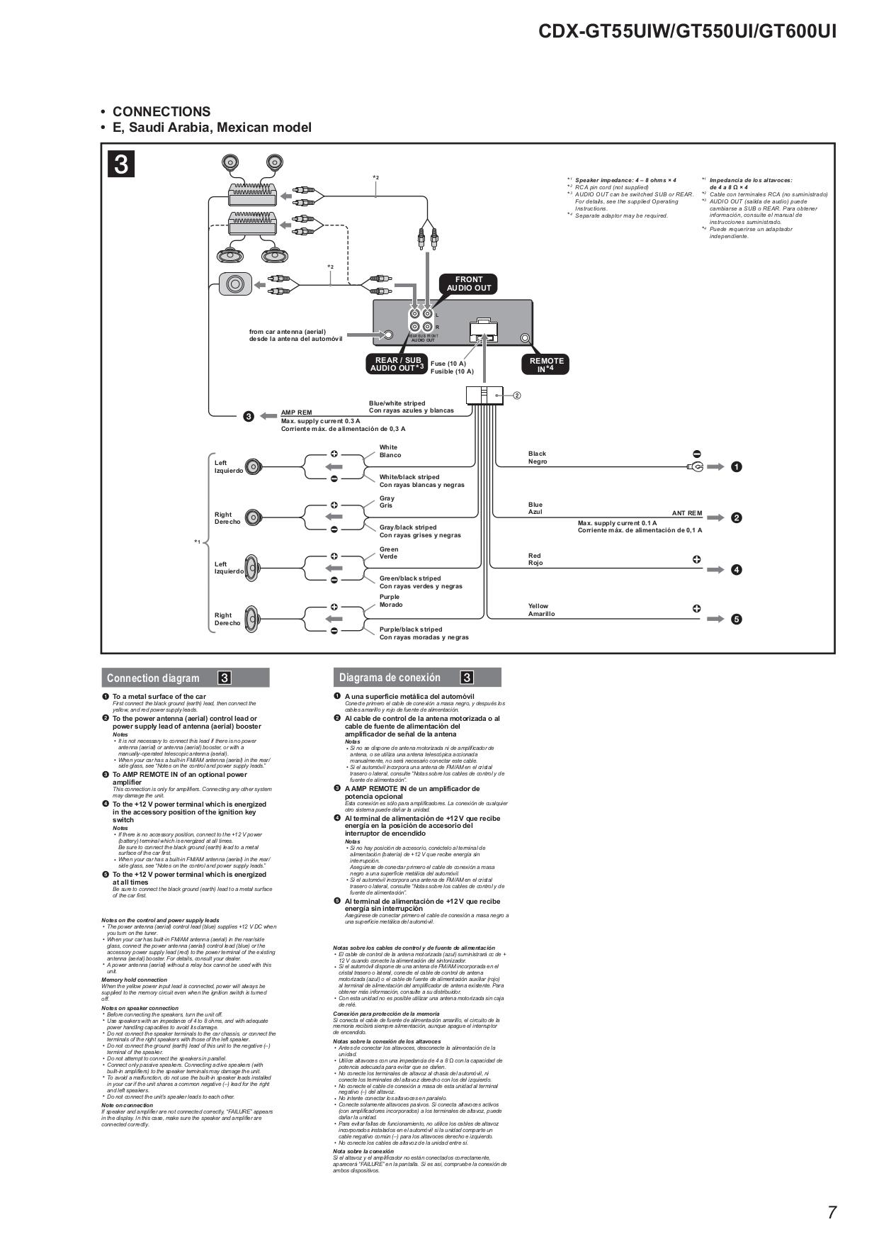 Diagram Sony Cdx Wiring Diagram Pin