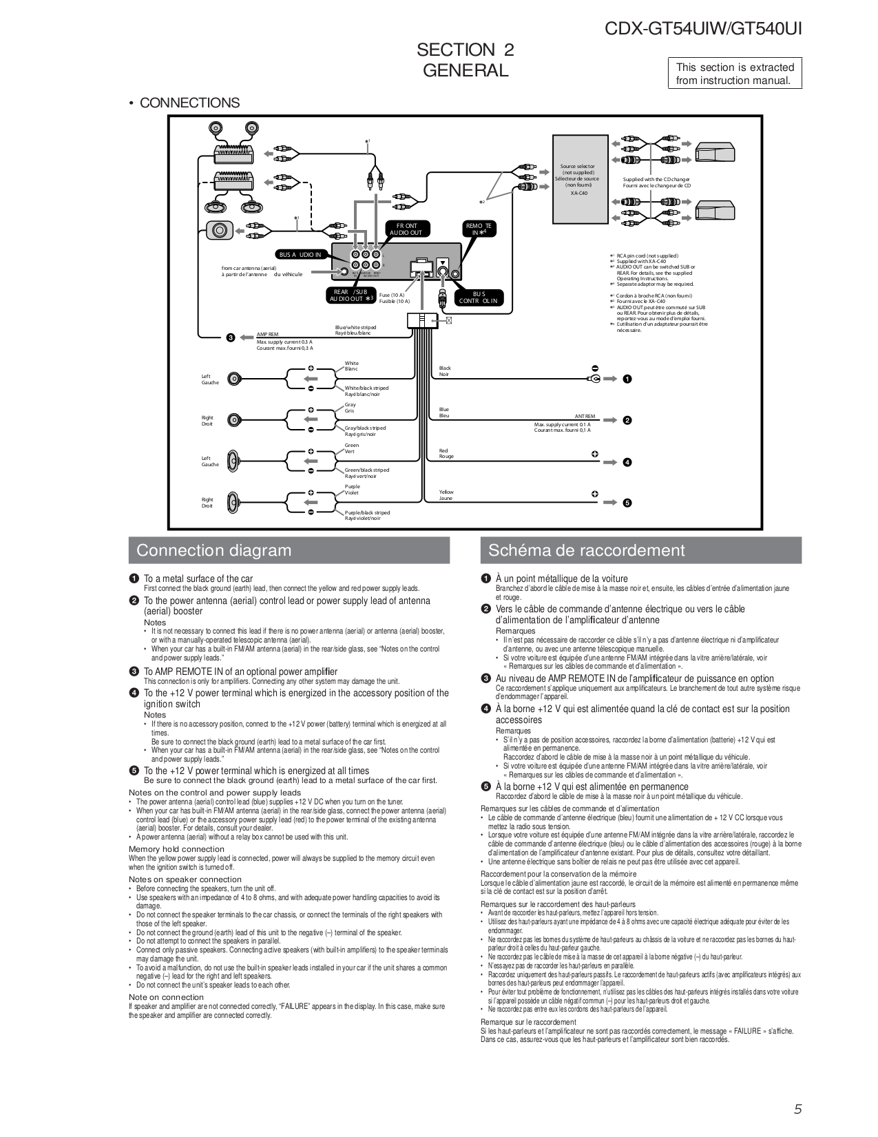 Sony Cdx Gt565Up Wiring Diagram from wiringall.com