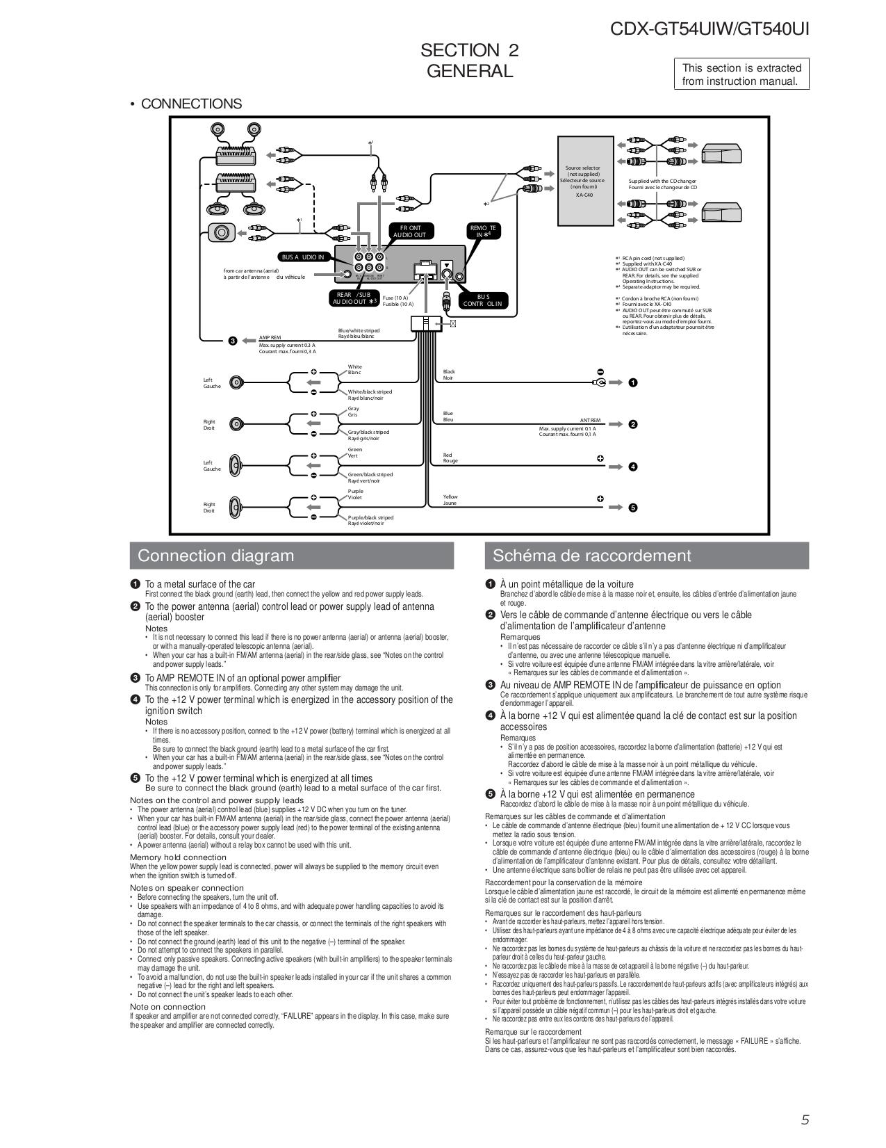 Sony Cdx Gt57up Wiring Diagram