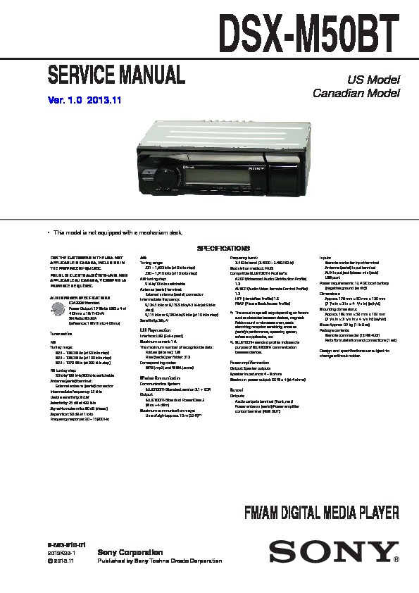 Sony Dsx S100 Wiring Diagram