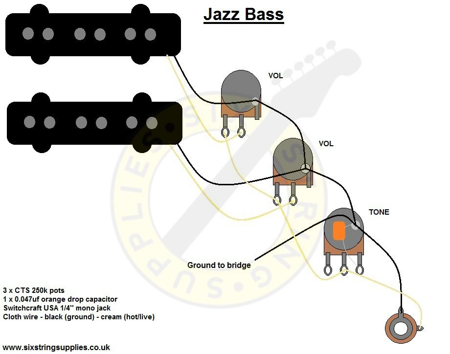 Fender Precision Wiring Diagram from wiringall.com