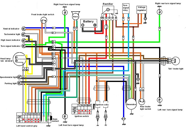 Suzuki T500 Wiring Diagram on