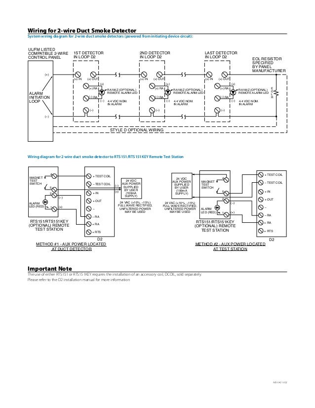 System Sensor Duct Detector Dh400acdc Wiring Diagram