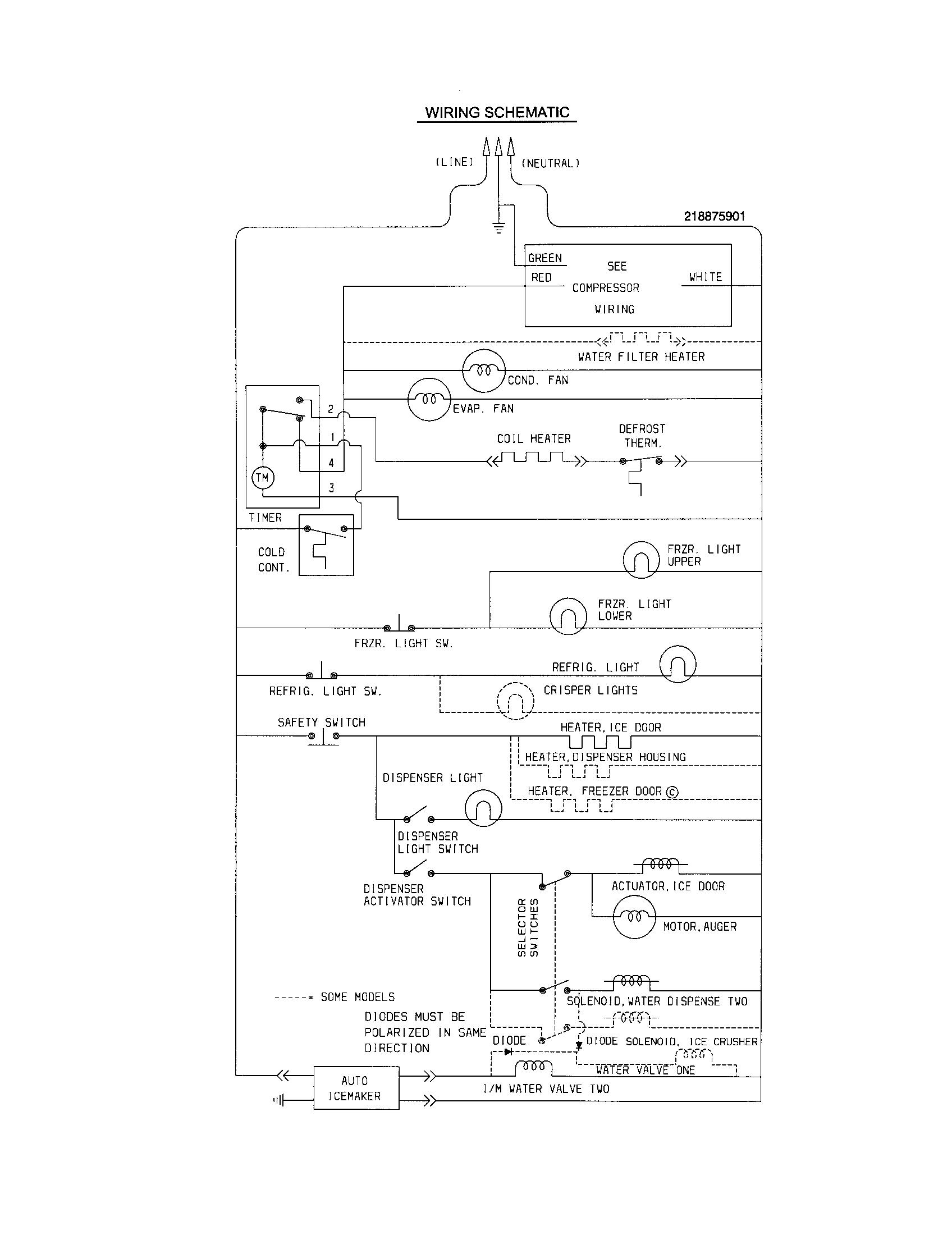 True Freezer T-49F Wiring Diagram from wiringall.com