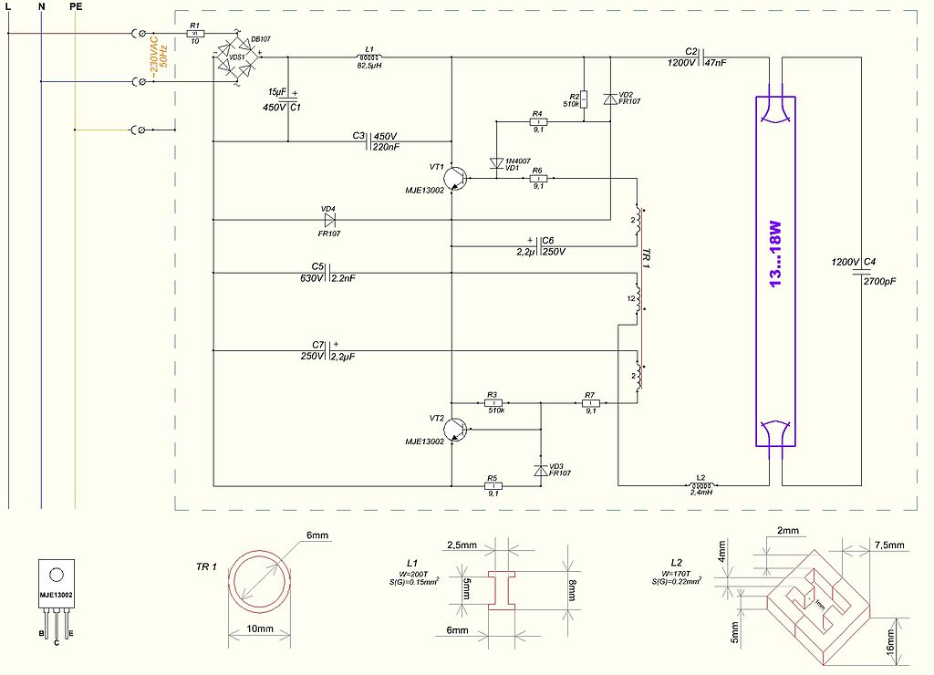 T12 Electronic Ballast Wiring Diagram