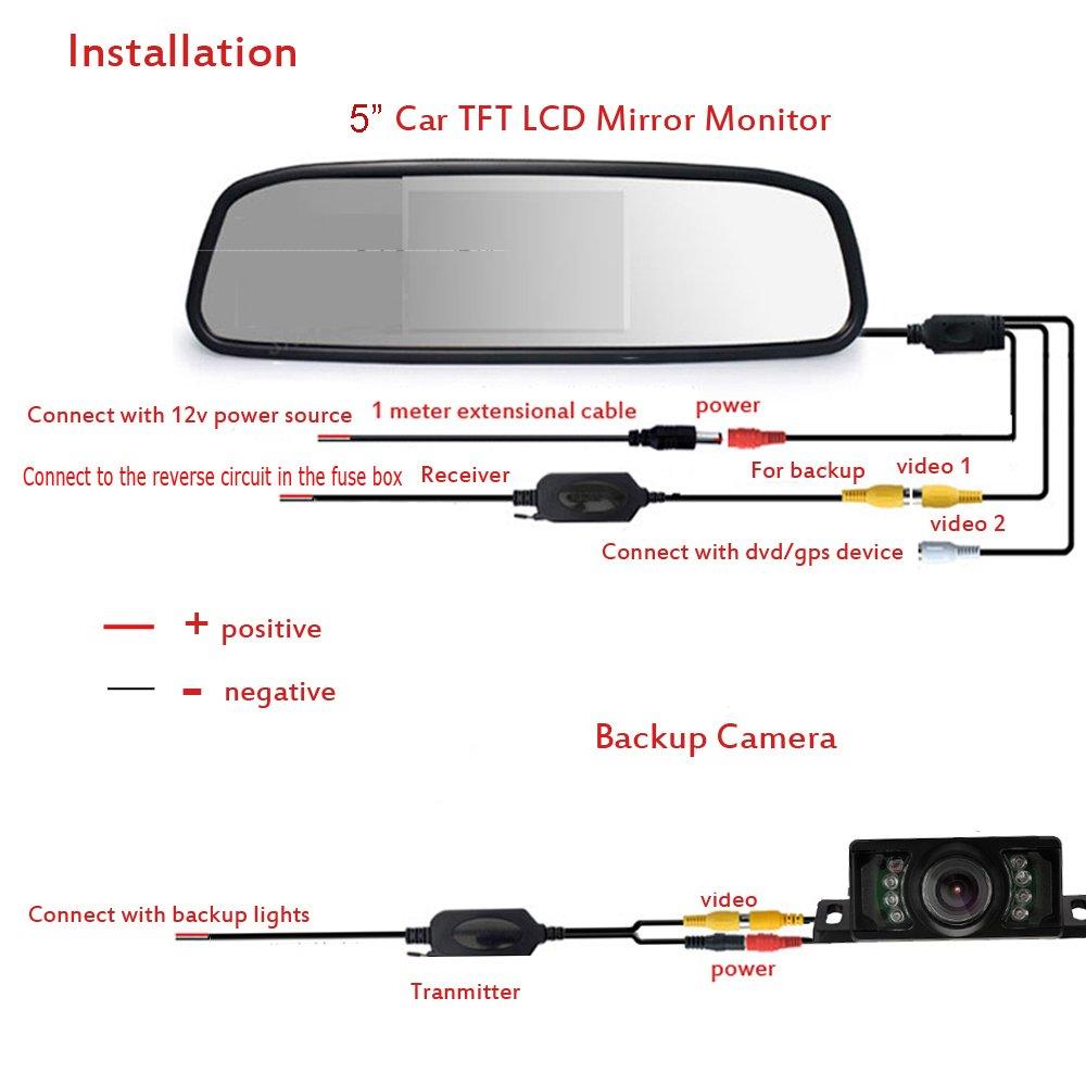 Tft Lcd Monitor Reversing Camera Wiring Diagram