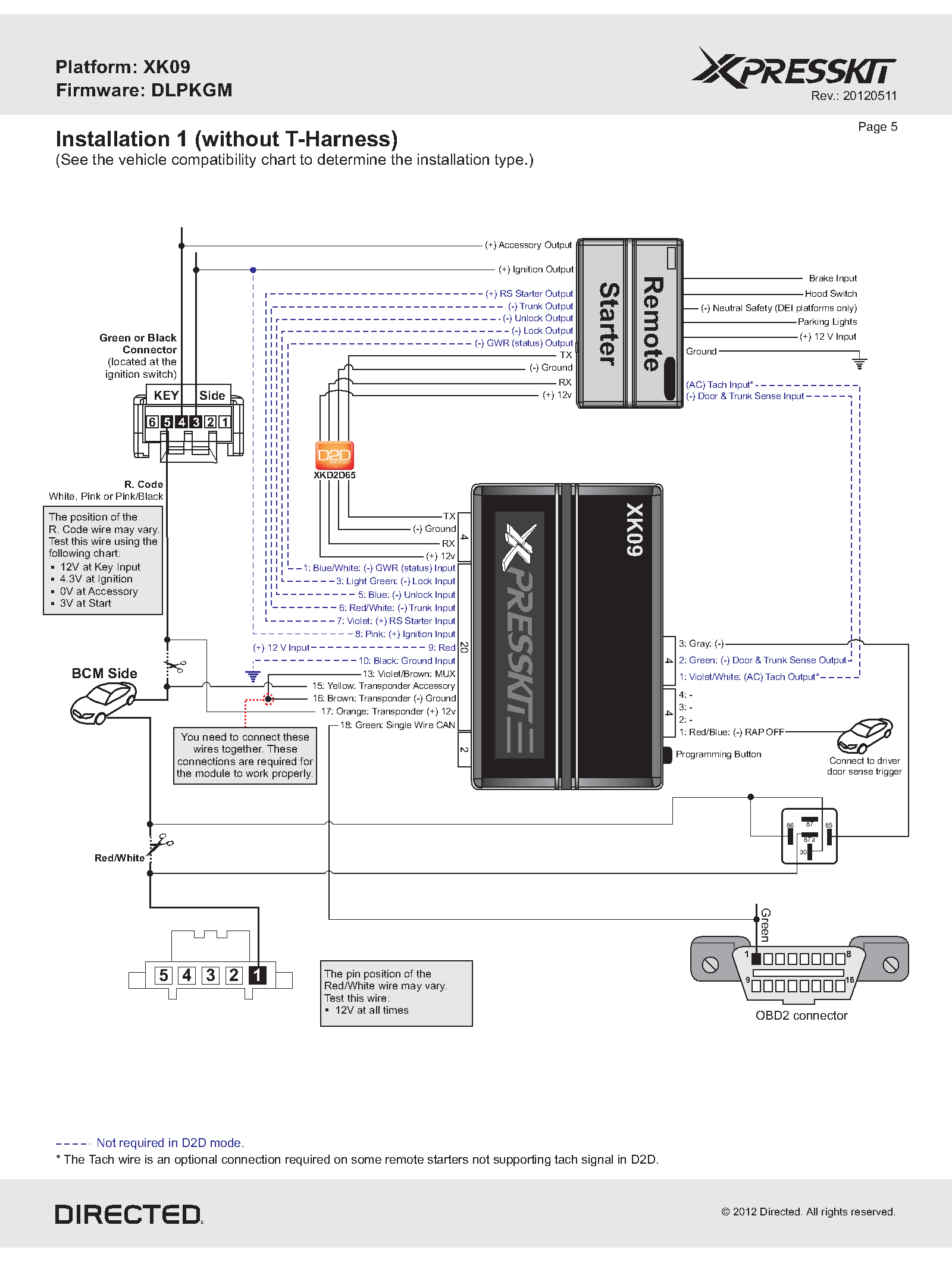 The Install Bay 12vdc 30  40a With Harness Wiring Diagram