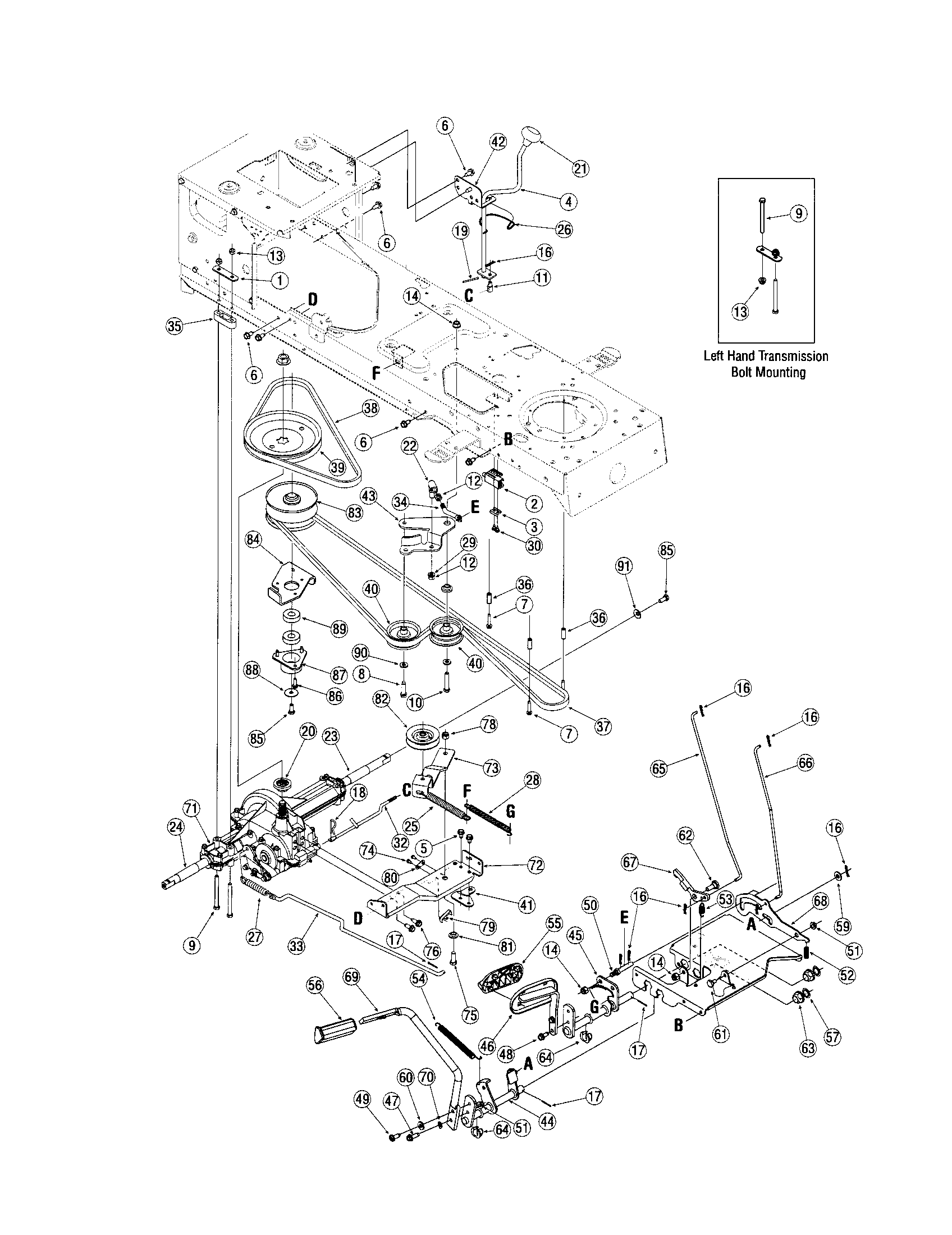 Toro Gt2100 Drive Belt Diagram
