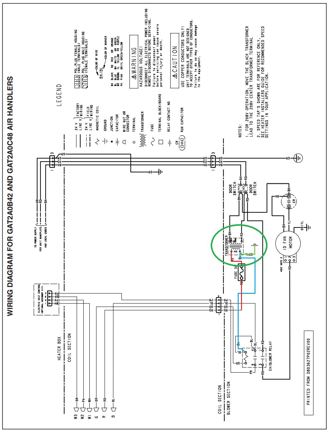 Trane 2twb3048a1000aa Wiring Diagram