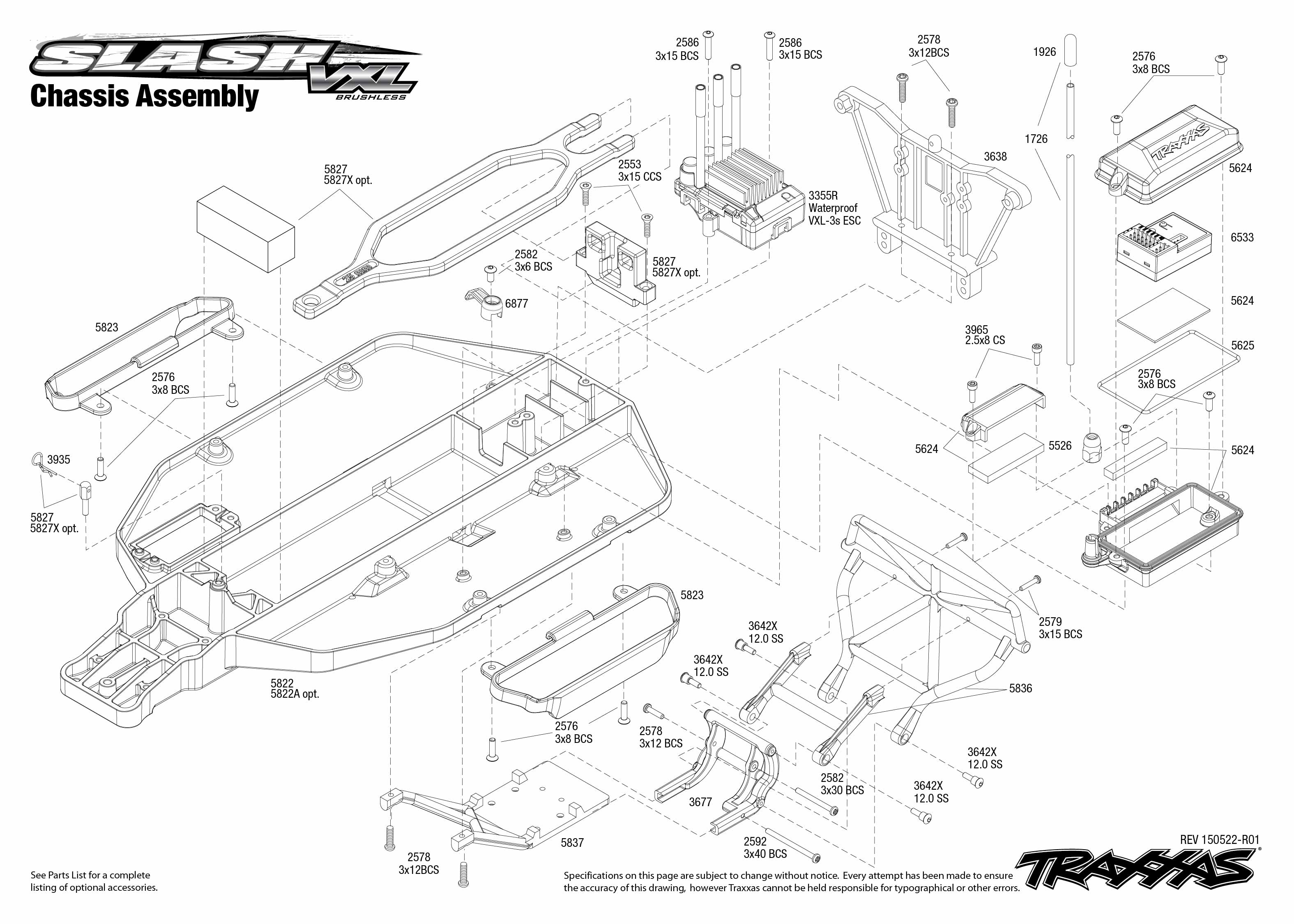 Traxxas Stampede 4x4 Vxl Parts Diagram
