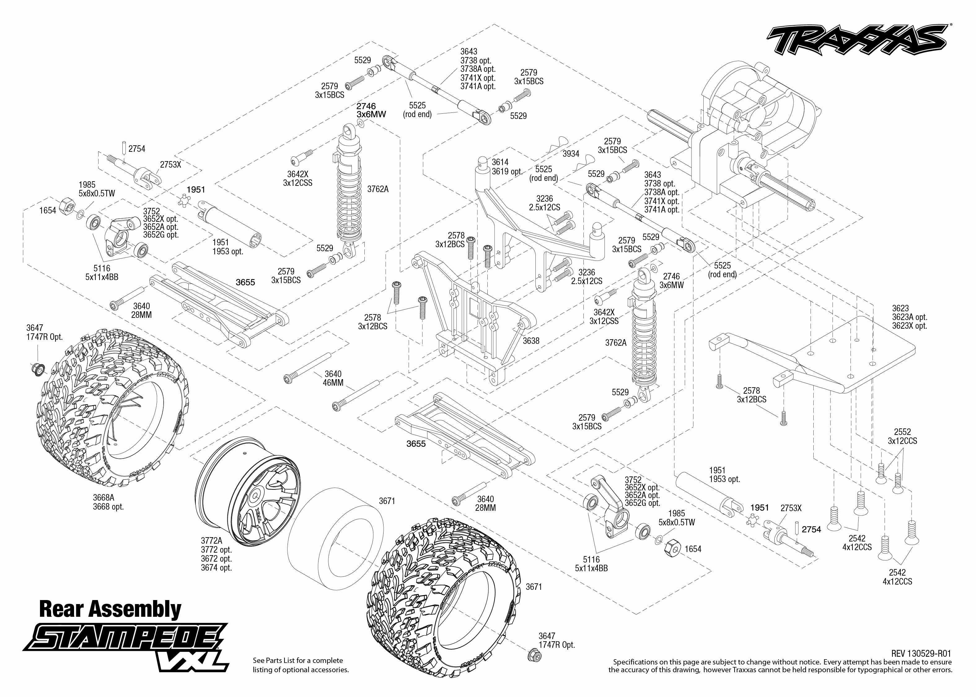 Traxxas Stampede 4x4 Vxl Parts Diagram