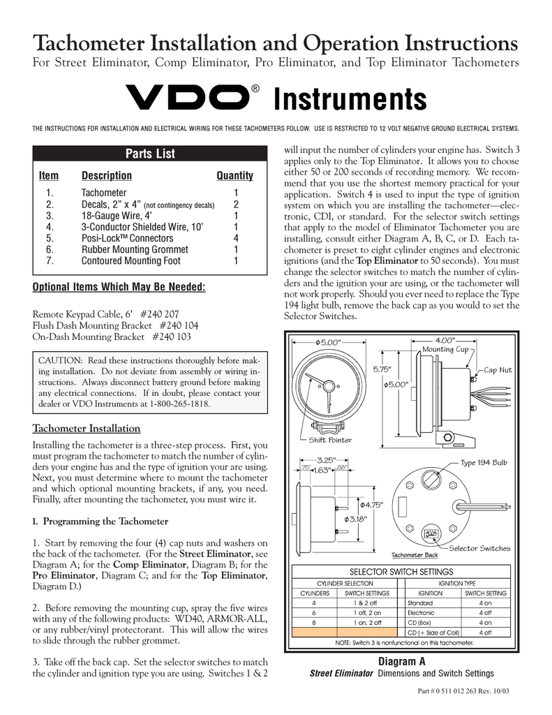 Diagram Diagram Vdo Wiring Gauge Tach Full Version Hd Quality Gauge Tach Ductdiagram Eyepower It