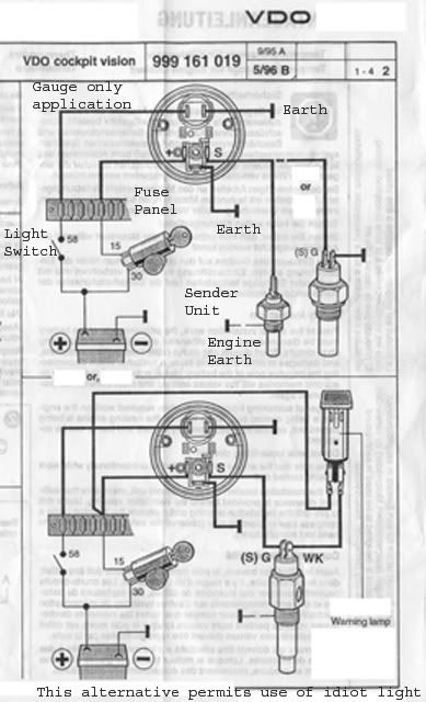 Vdo Temperature Gauge Wiring Diagram