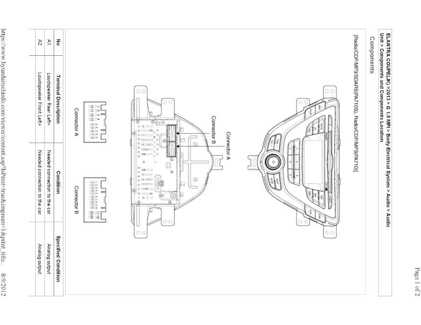 Veloster Speaker Wiring Diagram