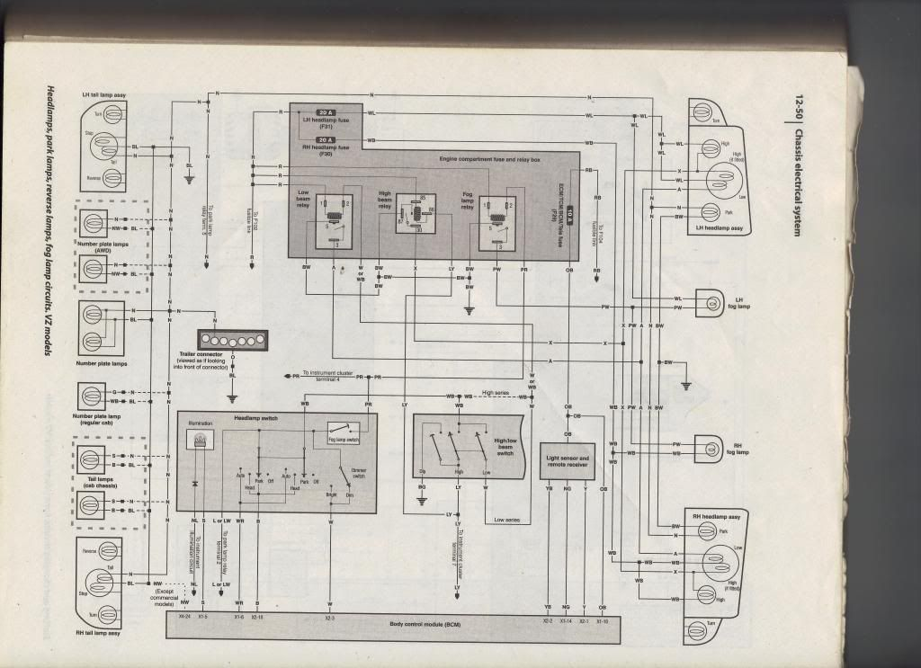 Vs Commodore Headlight Wiring Diagram