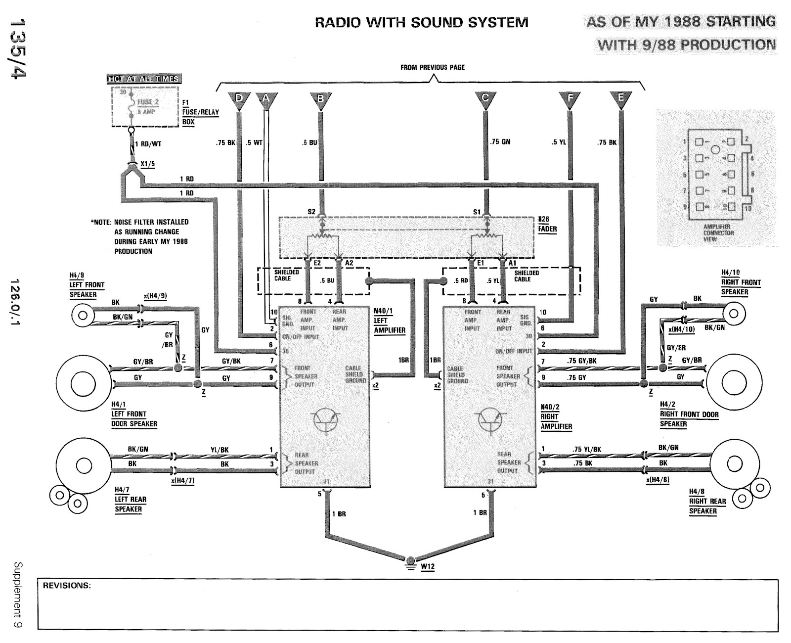 W126 Roof Light Wiring Diagram Fuse 15