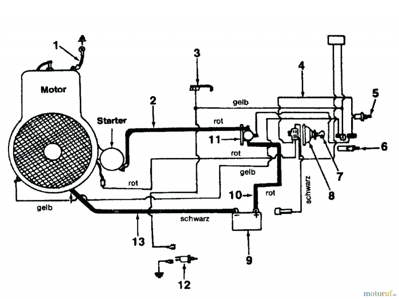 Westwood T1200 Wiring Diagram