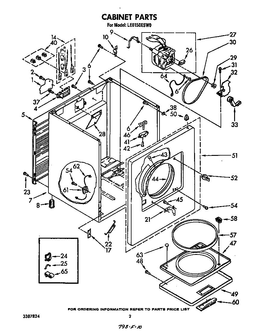 whirlpool cabrio dryer diagram