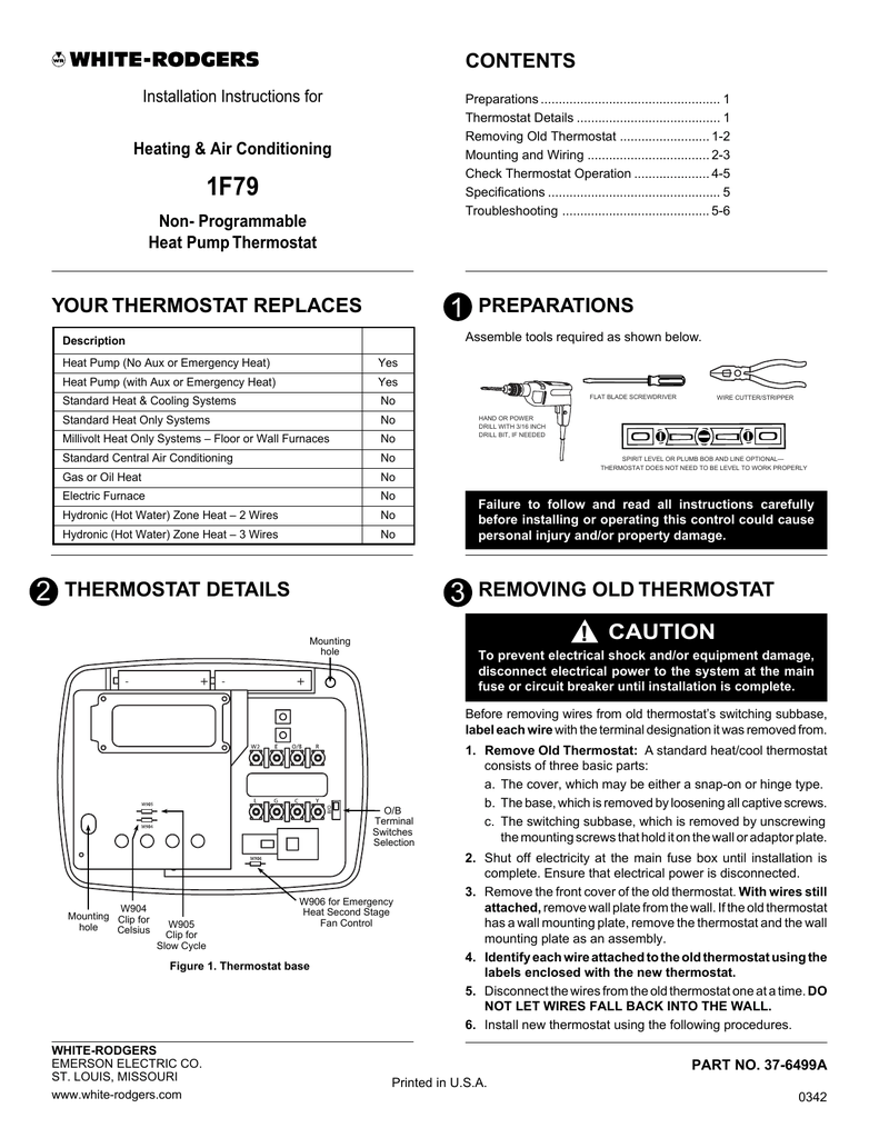 White Rodgers 1f78 Wiring Diagram