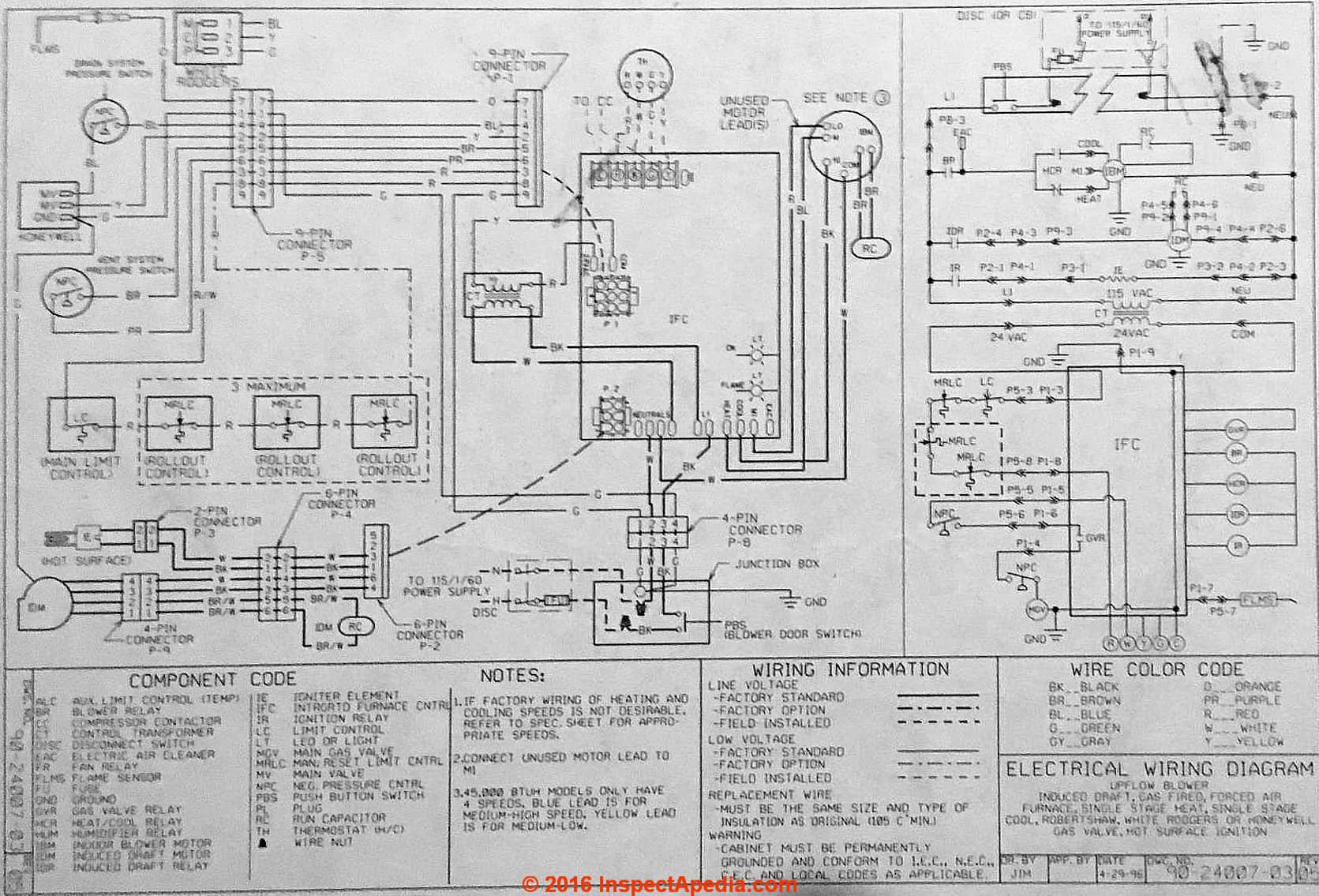 White Rodgers Thermostat Wiring Diagram 1F89 211 from wiringall.com