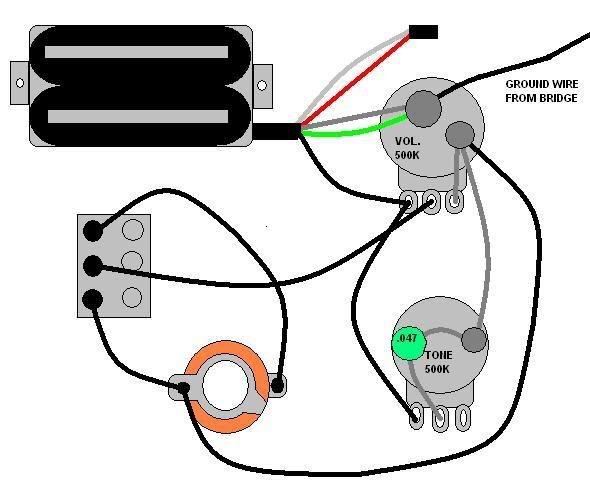 Wiring Diagram Dimebucker One Volume One Tone