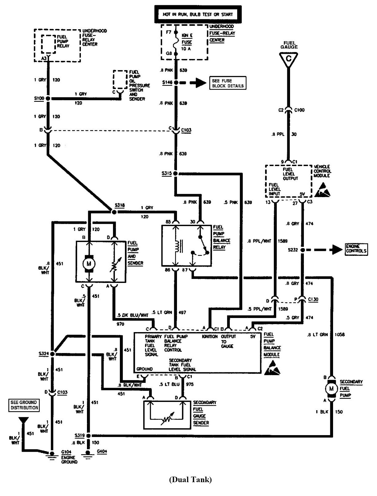 Wiring Diagram For 1999 Gmc Serria Intank Fuel Pump