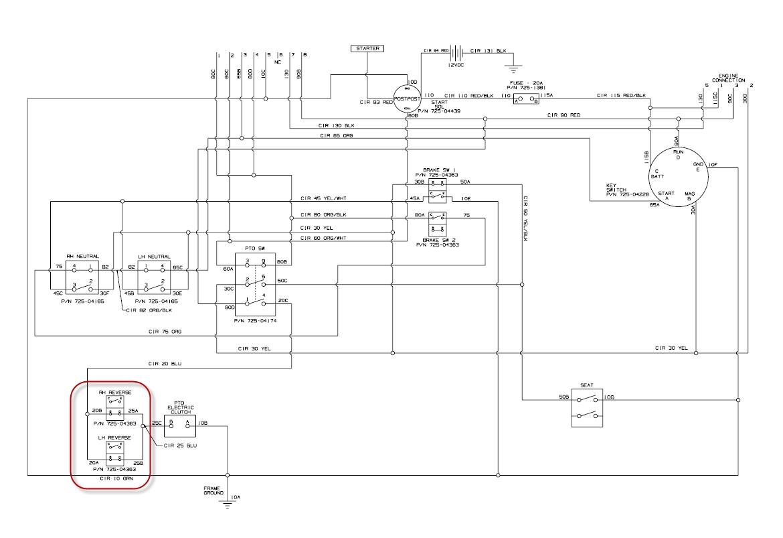 Wiring Diagram For A Cub Cadet 2140
