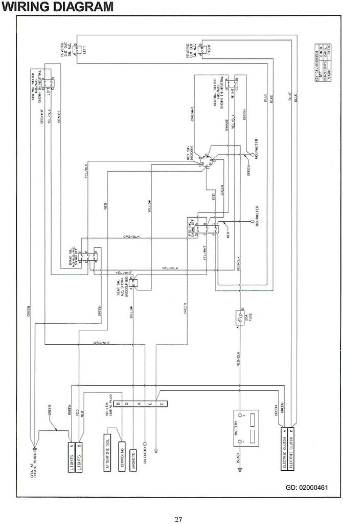 Cub Cadet 6 Pin Ignition Switch Wiring Diagram