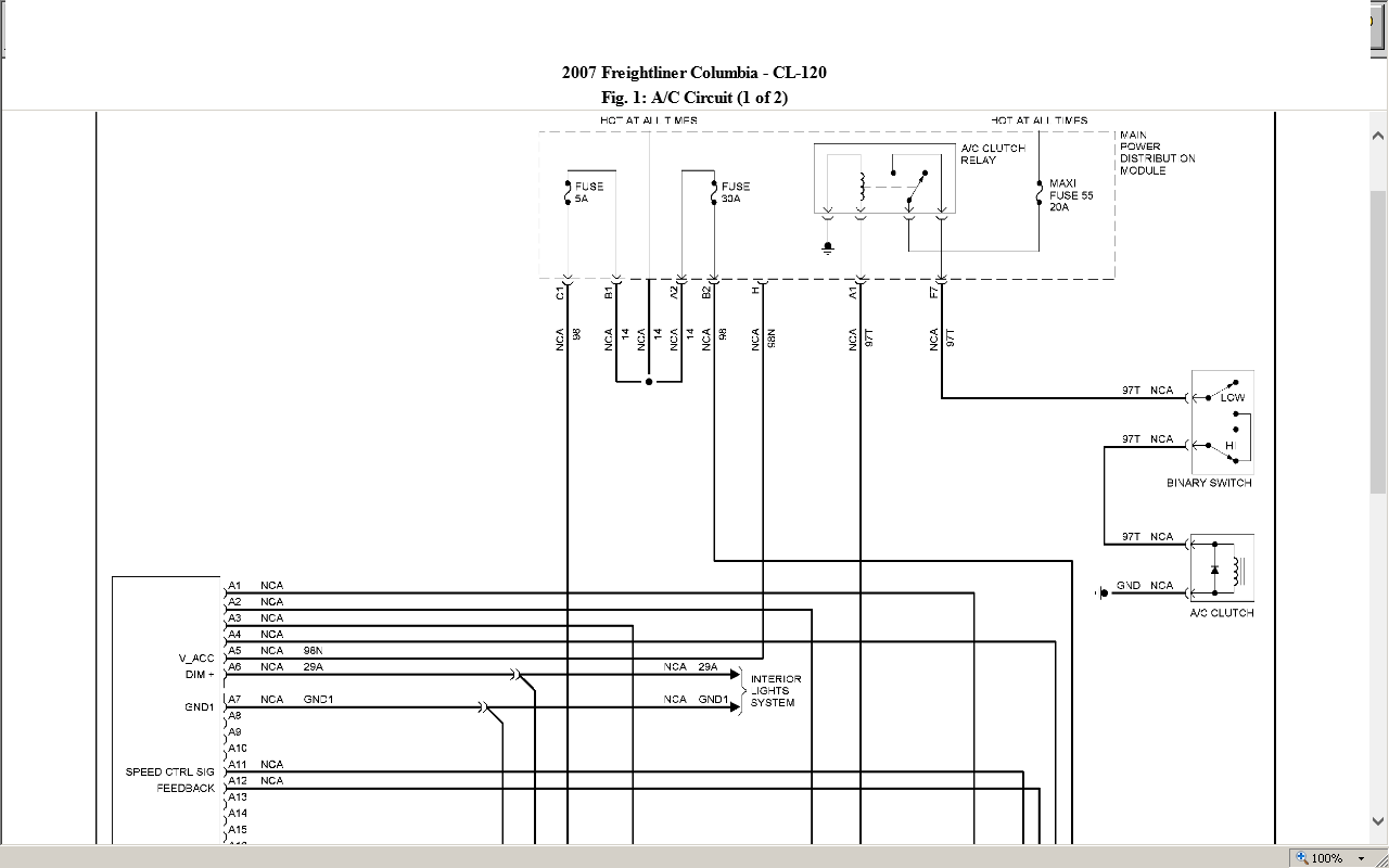 2013 Freightliner Cascadia Radio Wiring Diagram Manual Guide