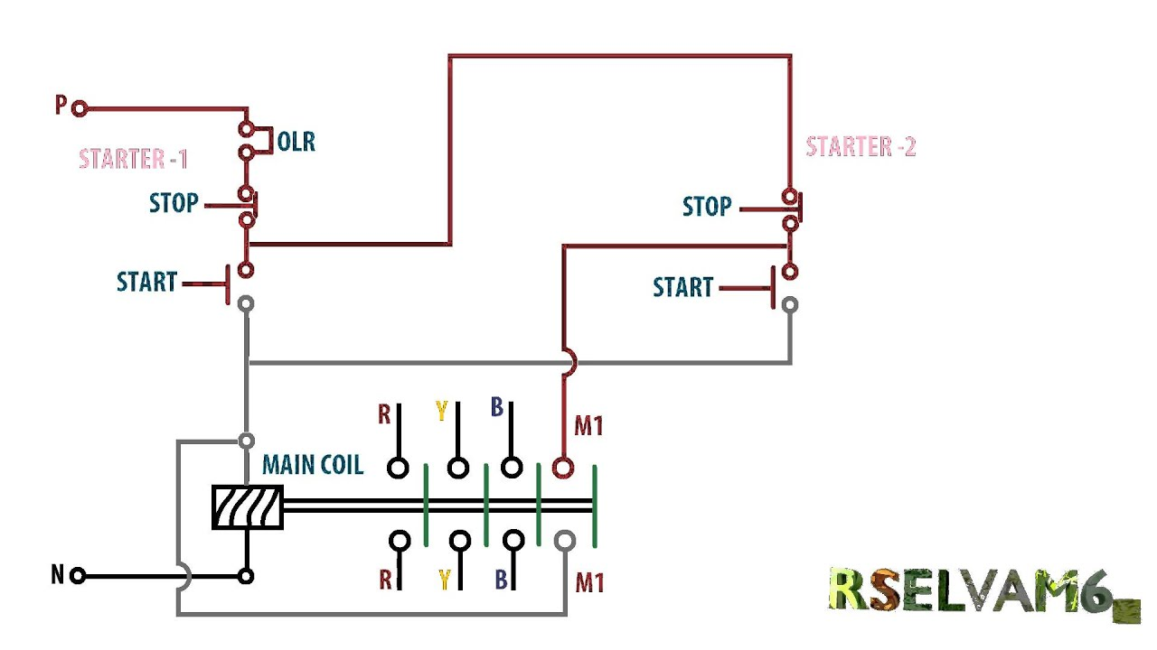 Wiring Diagram For A Starter Controlling A 480v Motor With ...