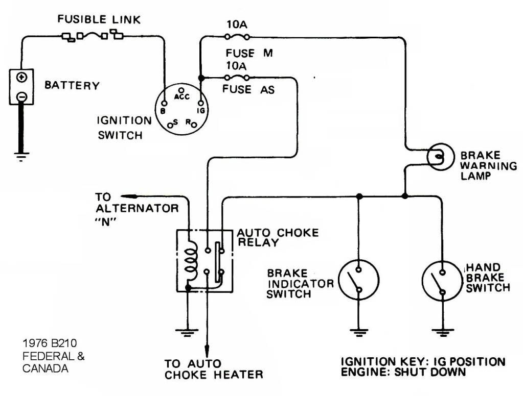 Wiring Diagram For Datsun B210 Ignition