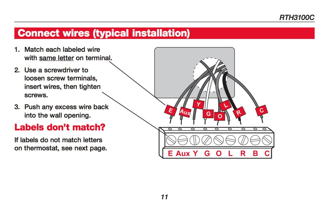 Wiring Diagram For Honeywell Rth6360