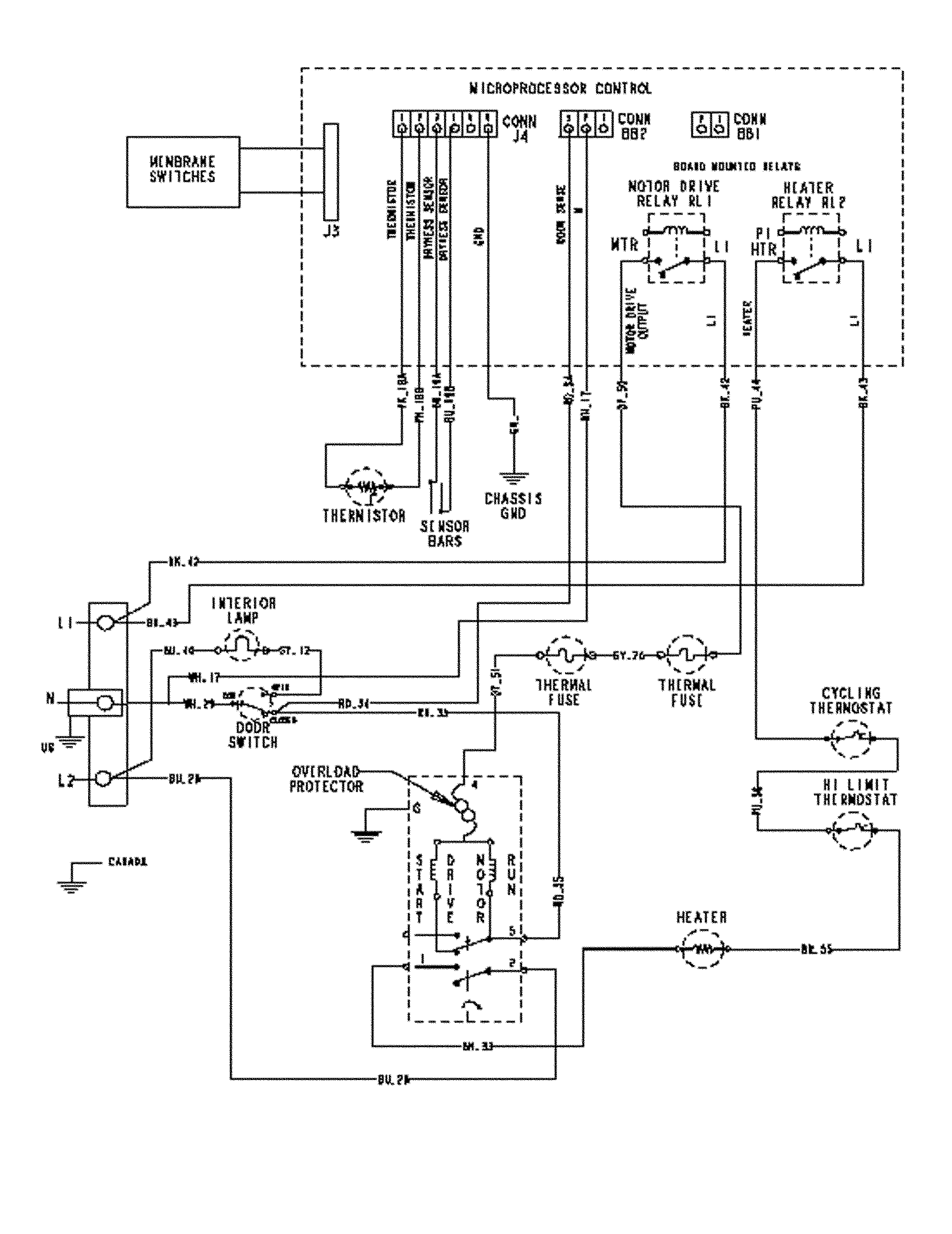 Maytag Wiring Diagram Dryer from wiringall.com