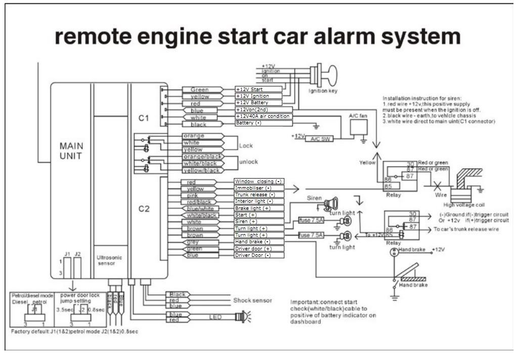Wiring Diagram For Pa320c Car Alarm