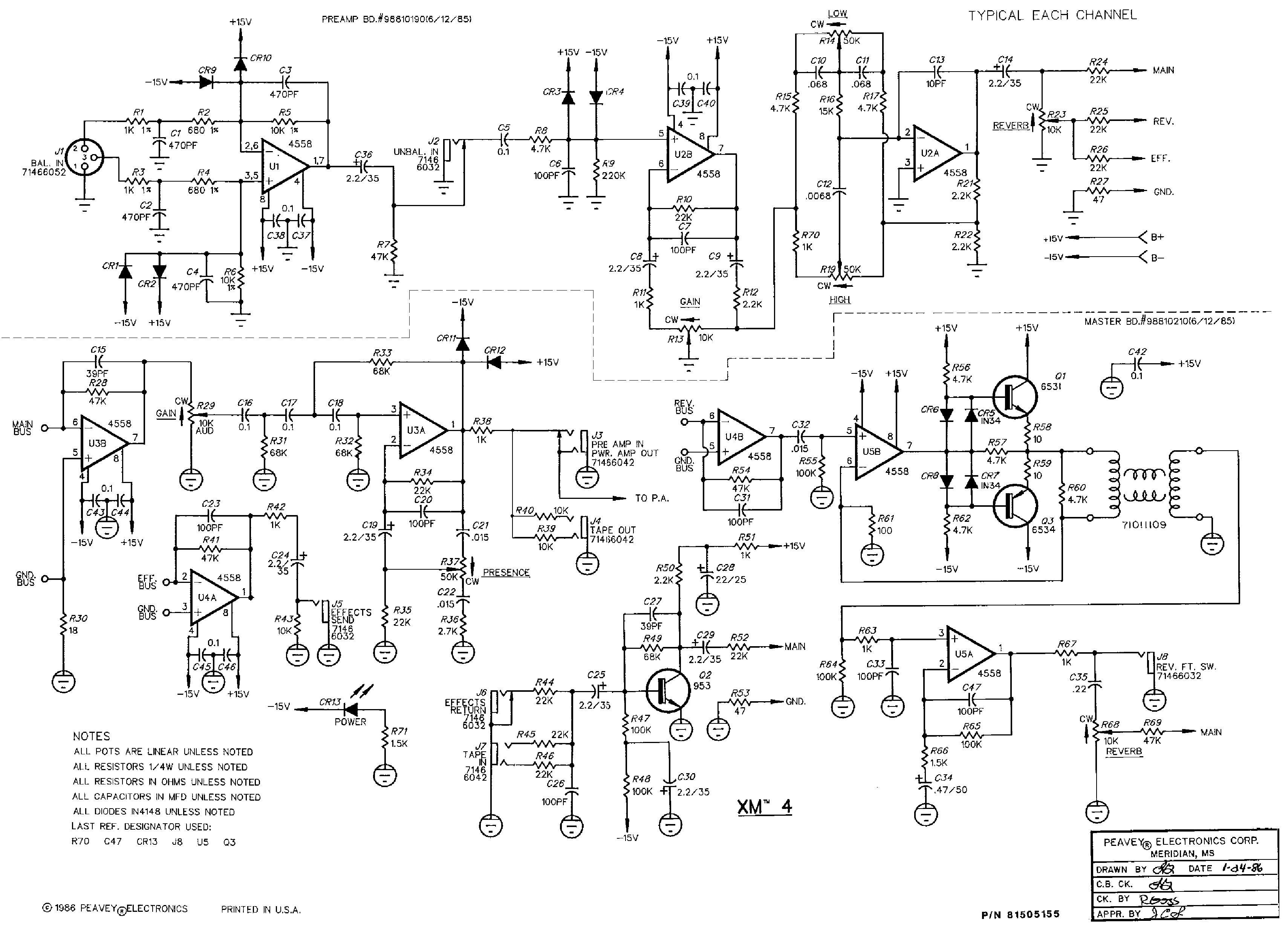 Wiring Diagram For Peavey Patriot