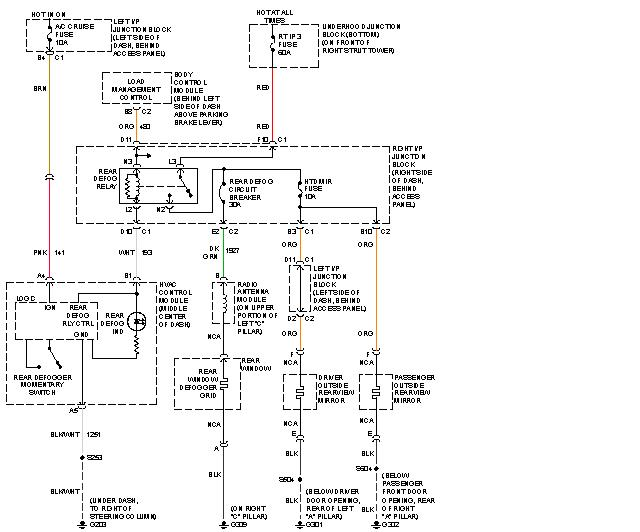 Wiring Diagram For Rear Window Defroster On 2008 Honda Civic 1 8l