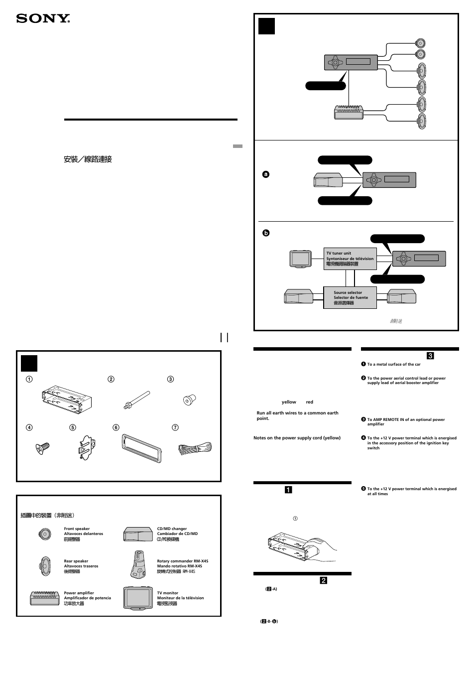 Diagram Car Stereo Wiring Sony