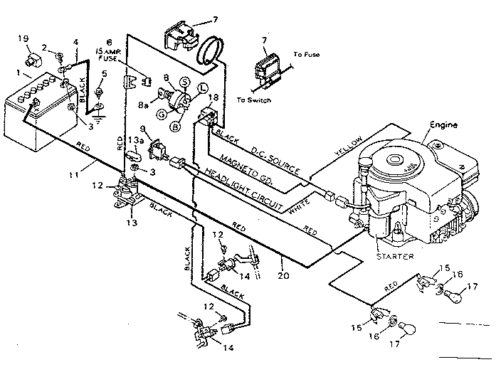 Wiring Diagram Of Charging System On Craftsman Riding Mower 917 288250