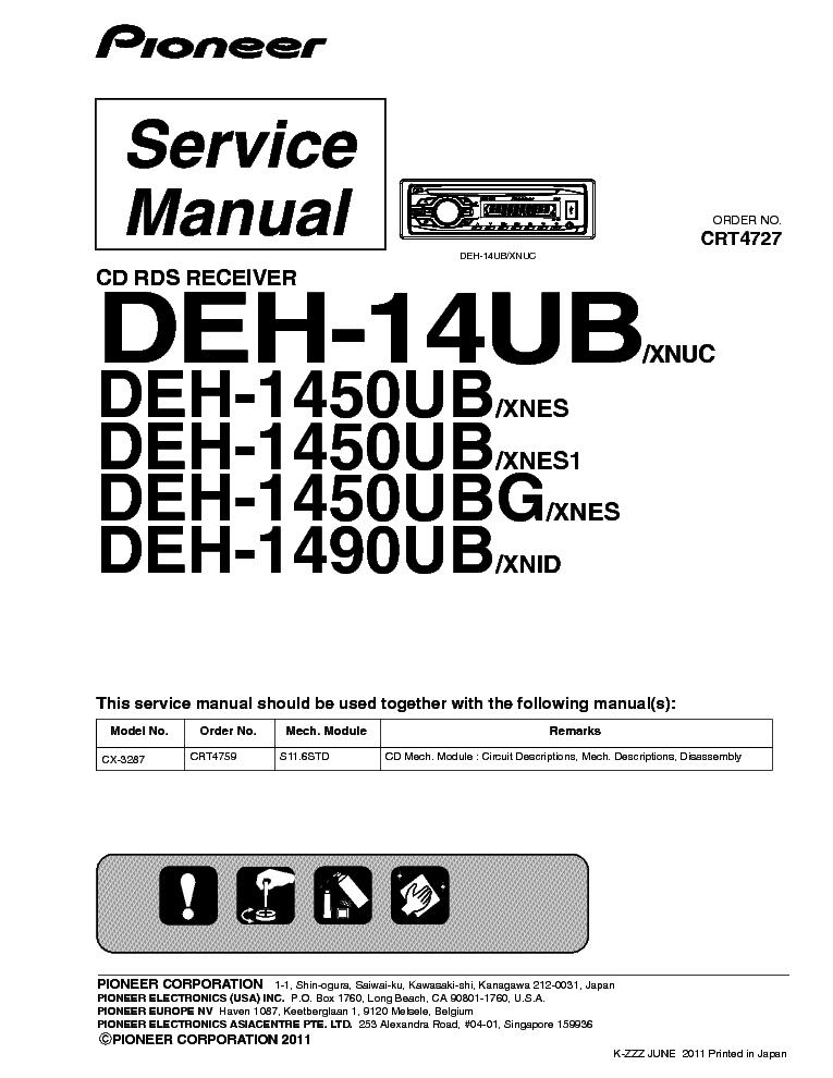 Wiring Diagram Pioneer Deh 14ub