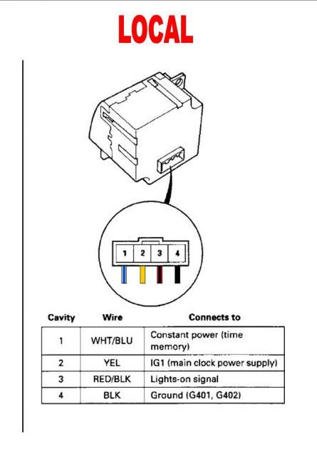 Wiring Diagram To Dtl Connector On Crv