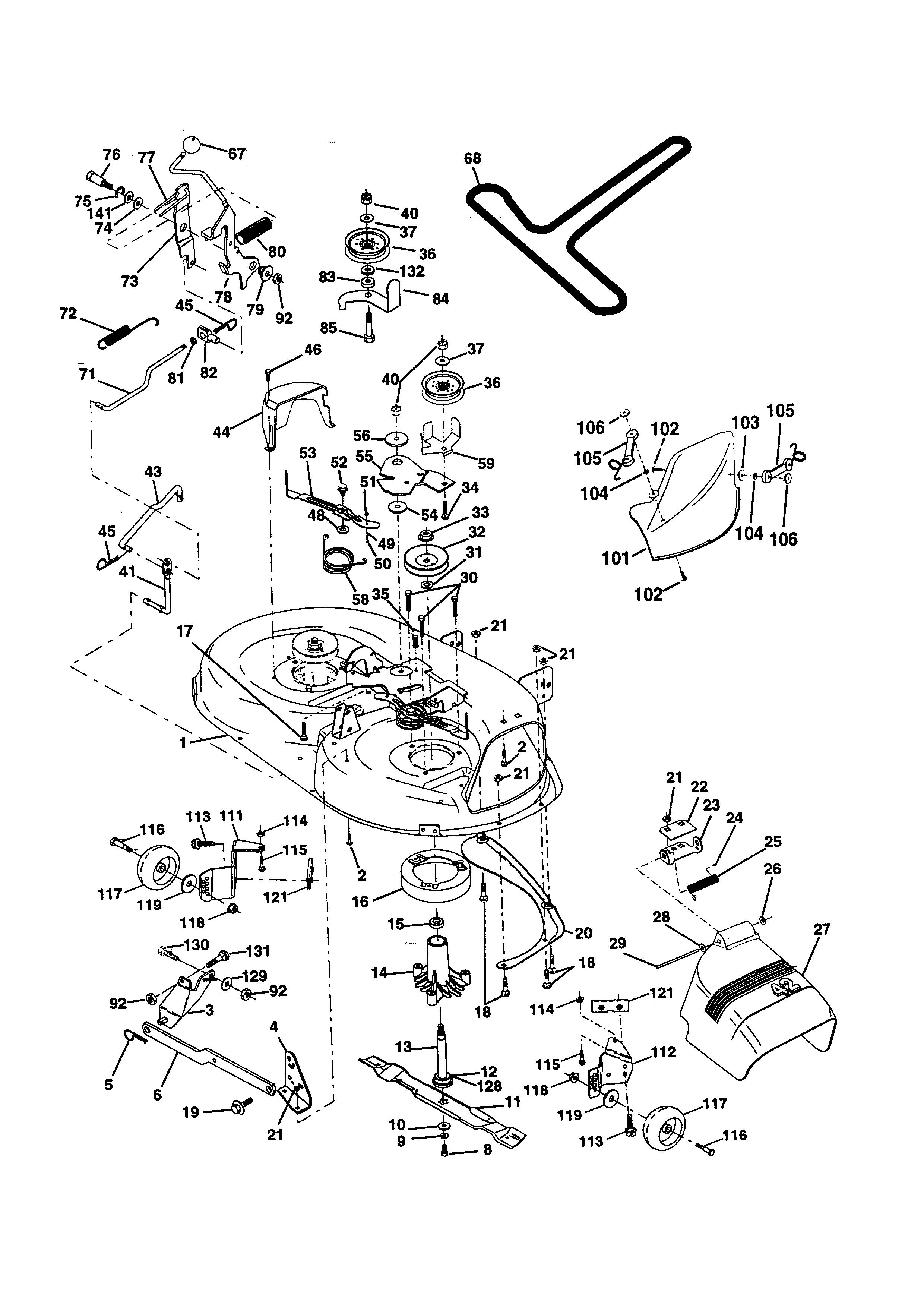 Wizard Lawn Mower Belt Diagram