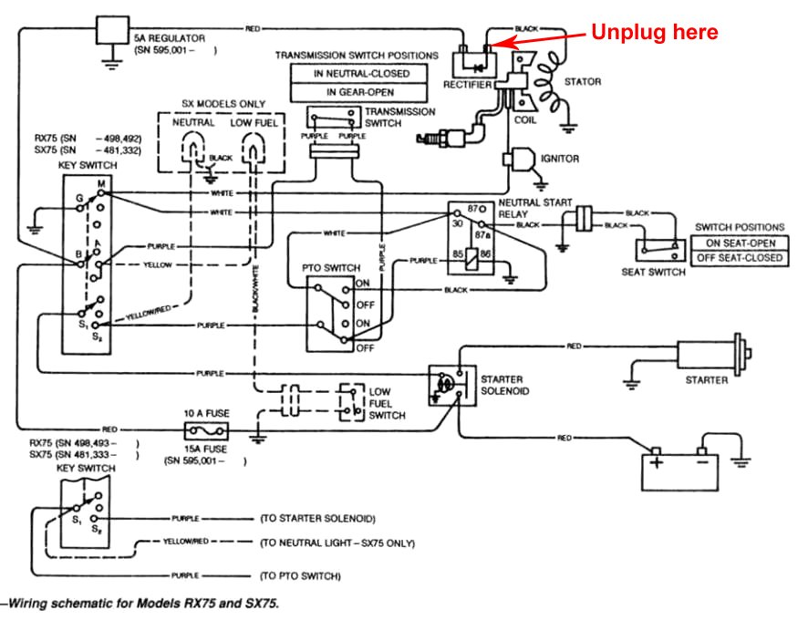 X500 John Deere Pto Switch Wiring Diagram