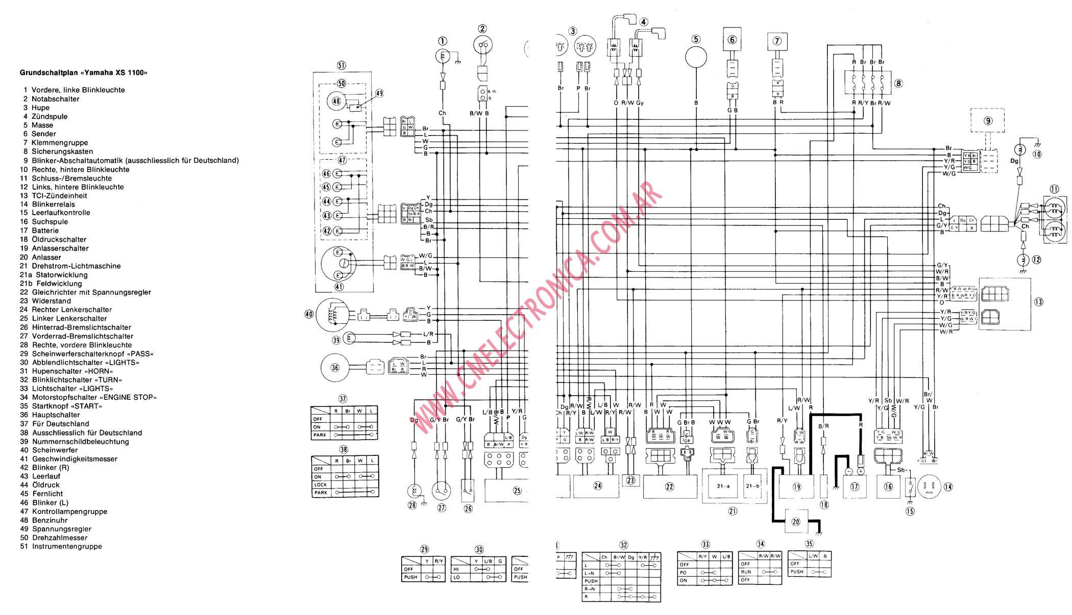 Xs1100 Wiring Diagram