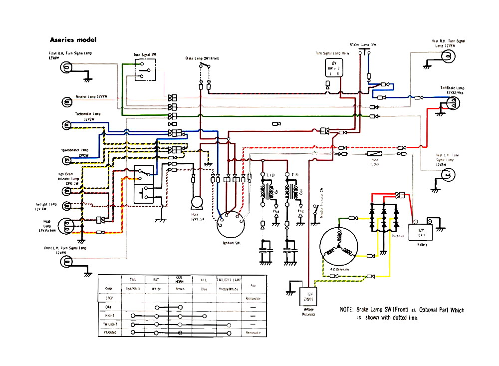 driving light, 4 pin relay, wire trailer, air compressor, camper trailer, dc motor, dump trailer, fog light, limit switch, boat battery, simple motorcycle, ford alternator, ignition switch, basic electrical, on xs 1100 wiring diagram