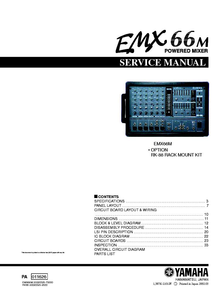 Yamaha Emx300 Wiring Diagram