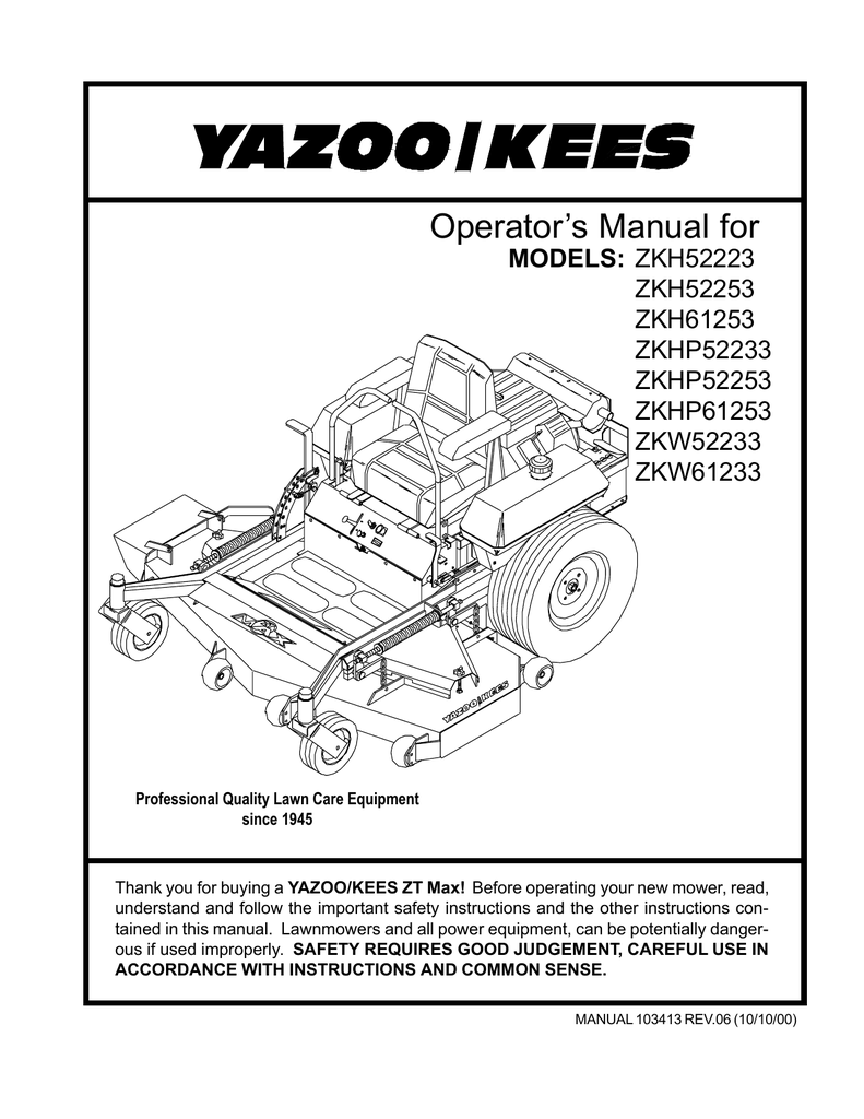 Yazoo Kee Wiri Wiring Diagram