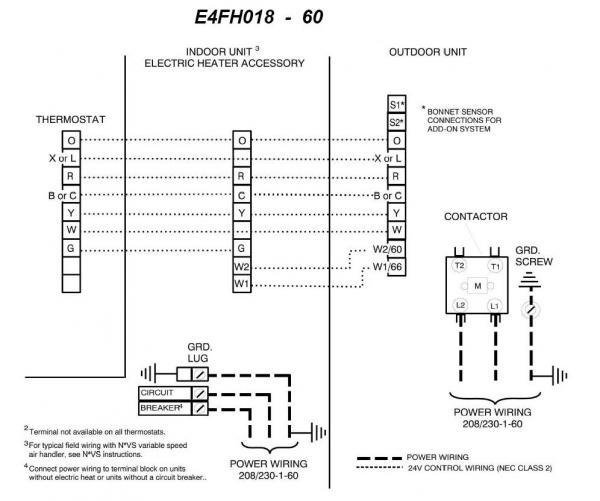 York Wiring Diagram H1dh030s06d